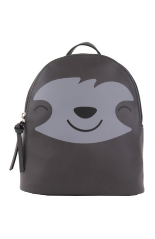 Mini Tote with Plush Panda Charm in Black