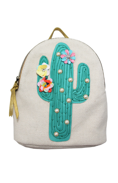 Let it Shine Backpack in Canvas Cactus