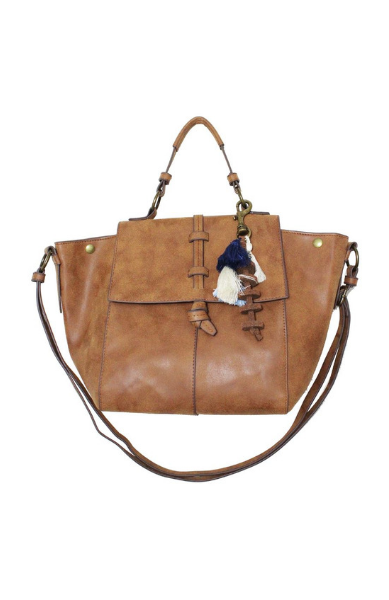 Mystic River Satchel in Cognac
