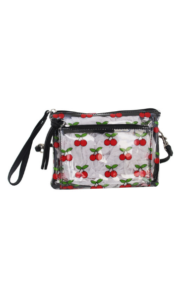 Maria Mini Wristlet in Cherry