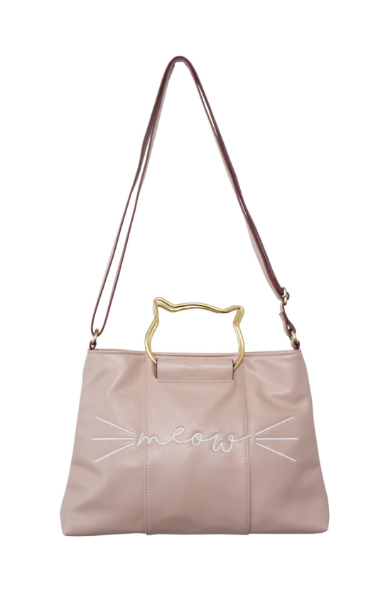 Right Meow Ring Satchel in Blush