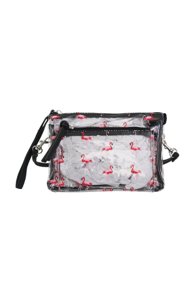 Maria Mini Wristlet in Flamingo