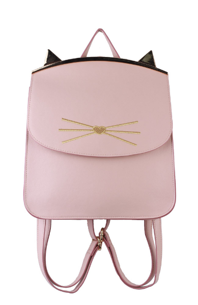 Lily Kitten Framed Backpack in Blush