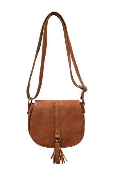 Mini Saddle Bag in Cognac