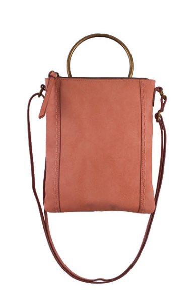 Ringer Passport Crossbody in Blush
