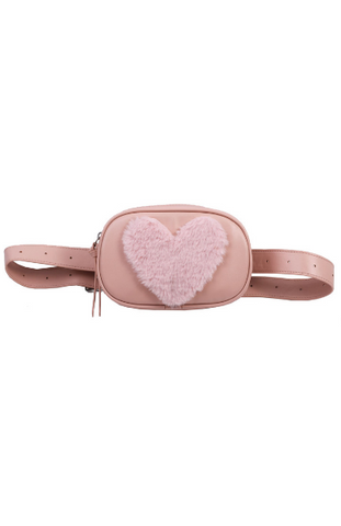 Heart Throb Belt Bag in Black