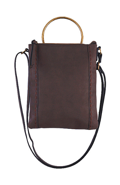 Ringer Passport Crossbody in Brown
