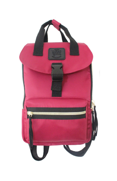 Happy Camper Small Backpack in Berry