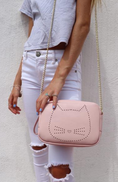 Purrrfect Crossbody in Pink