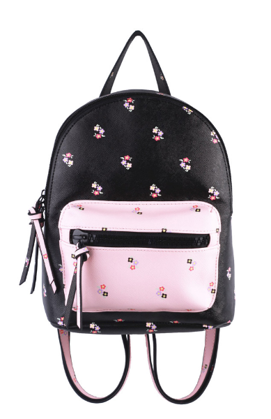 Nomi Dome Backpack in Black & Blush