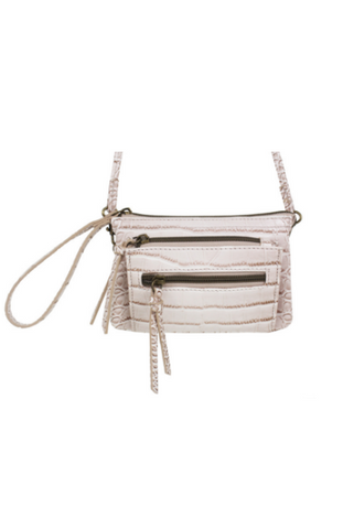 Chiara Canteen Crossbody in Blush Polka Dot