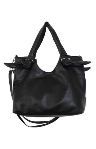 Dreamsicle Knotted Tote in Black