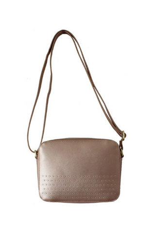 Layla Caged Crossbody in Champagne
