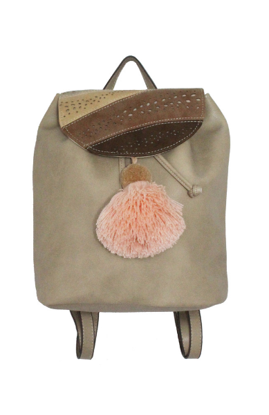 Sonata Backpack in Bone & Pink