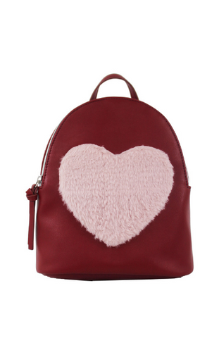 Festive Llama Backpack in Shearling