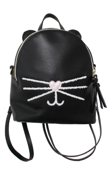 Check Meowt Backpack in Black