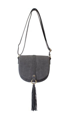 Saddle Bag With Braiding and Tassels