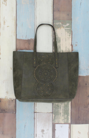 Moroccan Muse Tote Olive