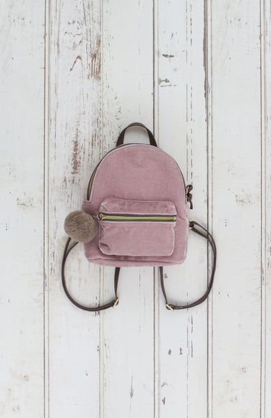 Velvet Crush Backpack in Blush