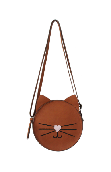 Purrfect Canteen Crossbody in Cognac