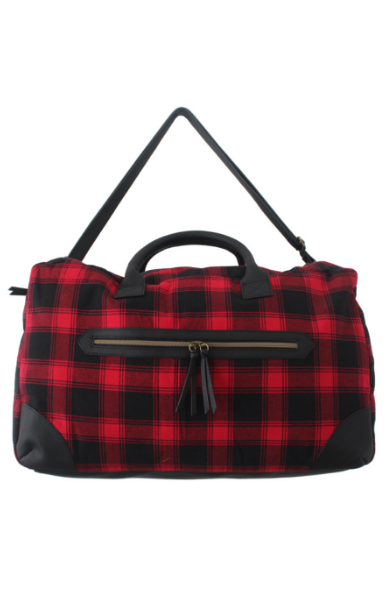 Buffalo Plaid Weekender in Red & Black