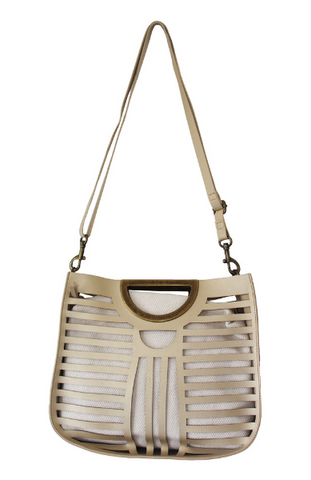 Olivia Belt Bag in Satin Silver