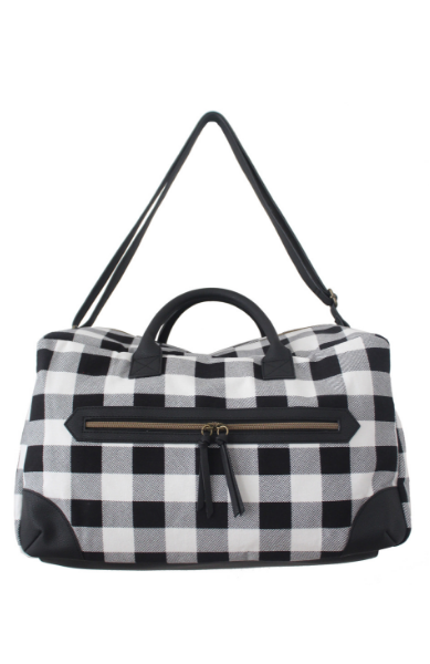 Buffalo Plaid Weekender in Black & White