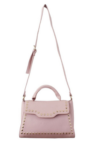 Pearled Ring Satchel in Blush