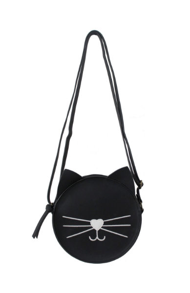 Purrfect Canteen Crossbody in Black