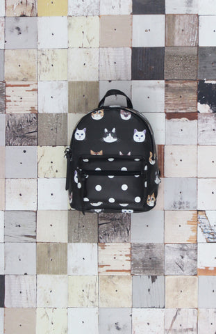 Campus Backpack in Black Llama