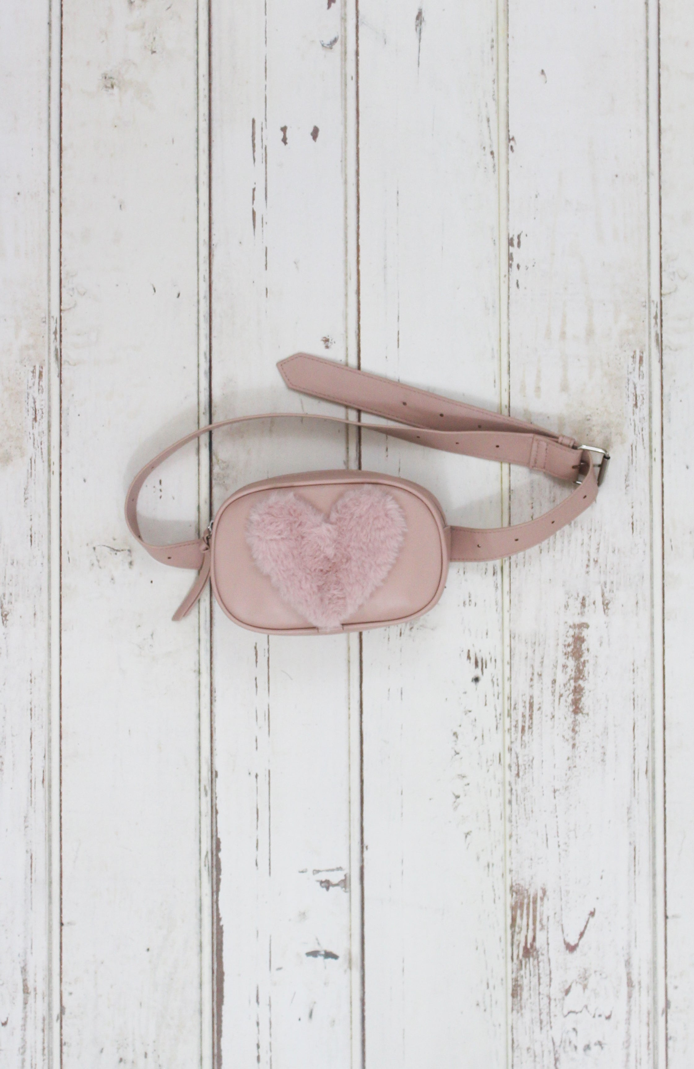 Heart Throb Belt Bag in Blush