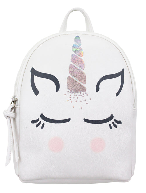 Blushing Unicorn Mikey Backpack in Bone