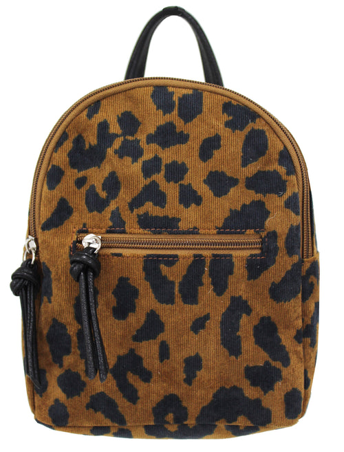 Corduroy Mikey Backpack in Leopard