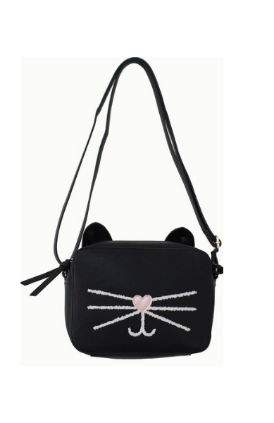 Check Meowt Crossbody in Black