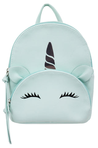 Rainbow Unicorn Mikey Backpack in Bone