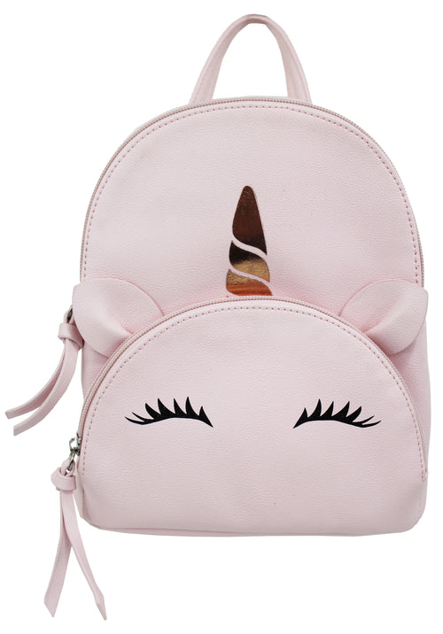 Unicorn Pocket Mikey Backpack in Blush