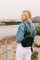 Sparkle Heart Backpack in Black