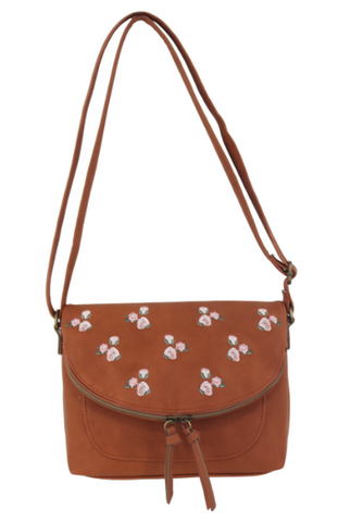 Maven Crossbody in Blush Croc
