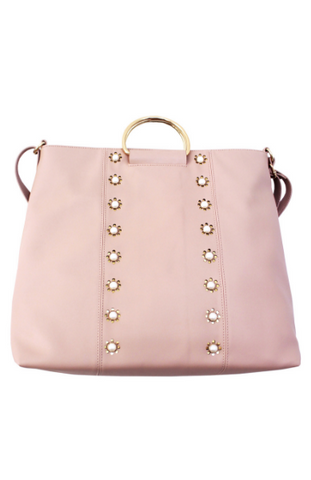 Sprinkles Quilted Ring Tote in Blush