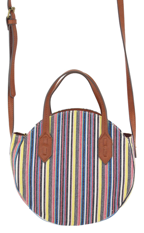 Tambie Mini Crossbody in Yellow Stripe