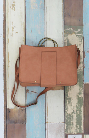 Lola Ring Handle Tote in Blush