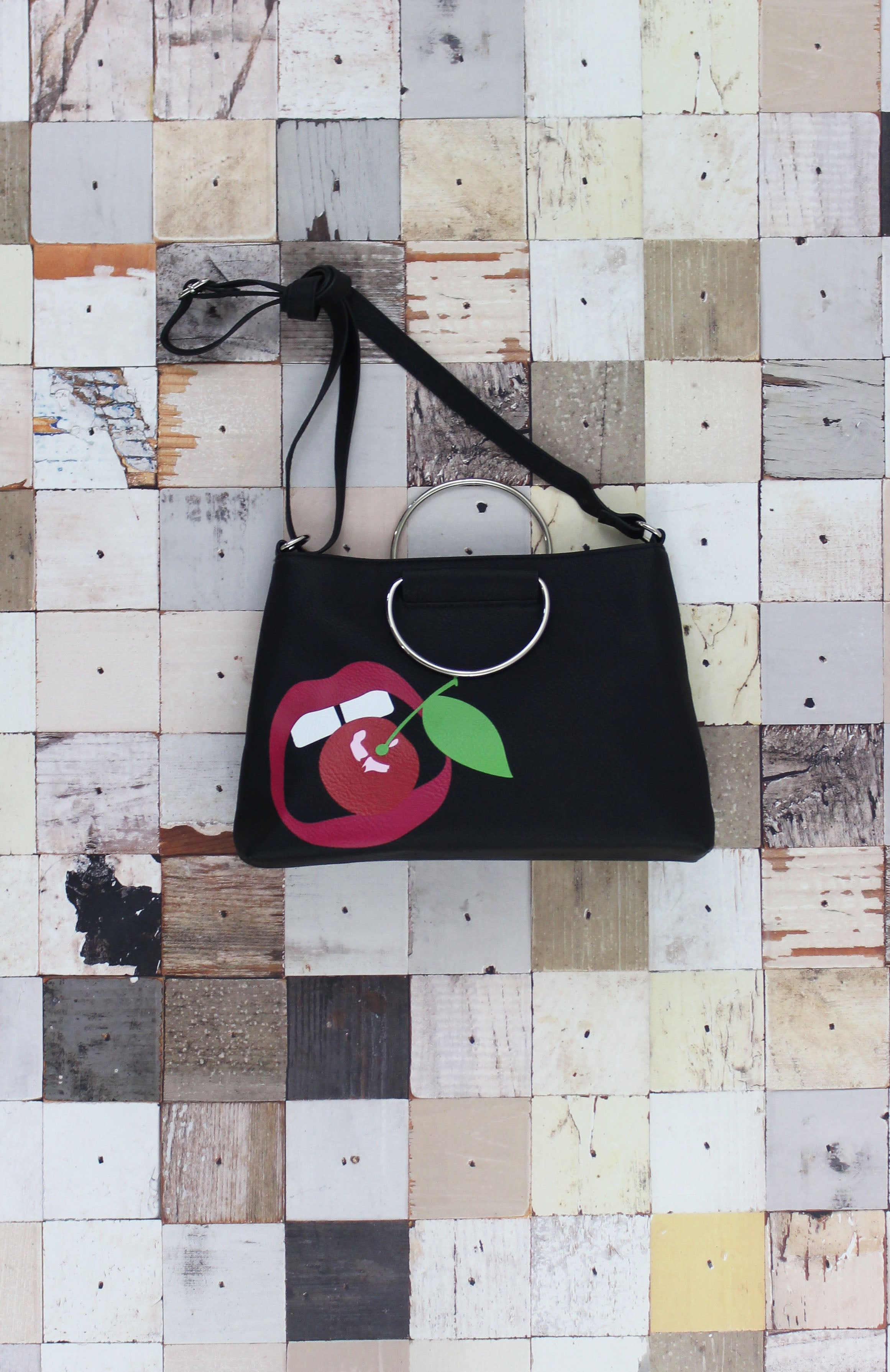 For the Record Ring Satchel in Cherry Bomb