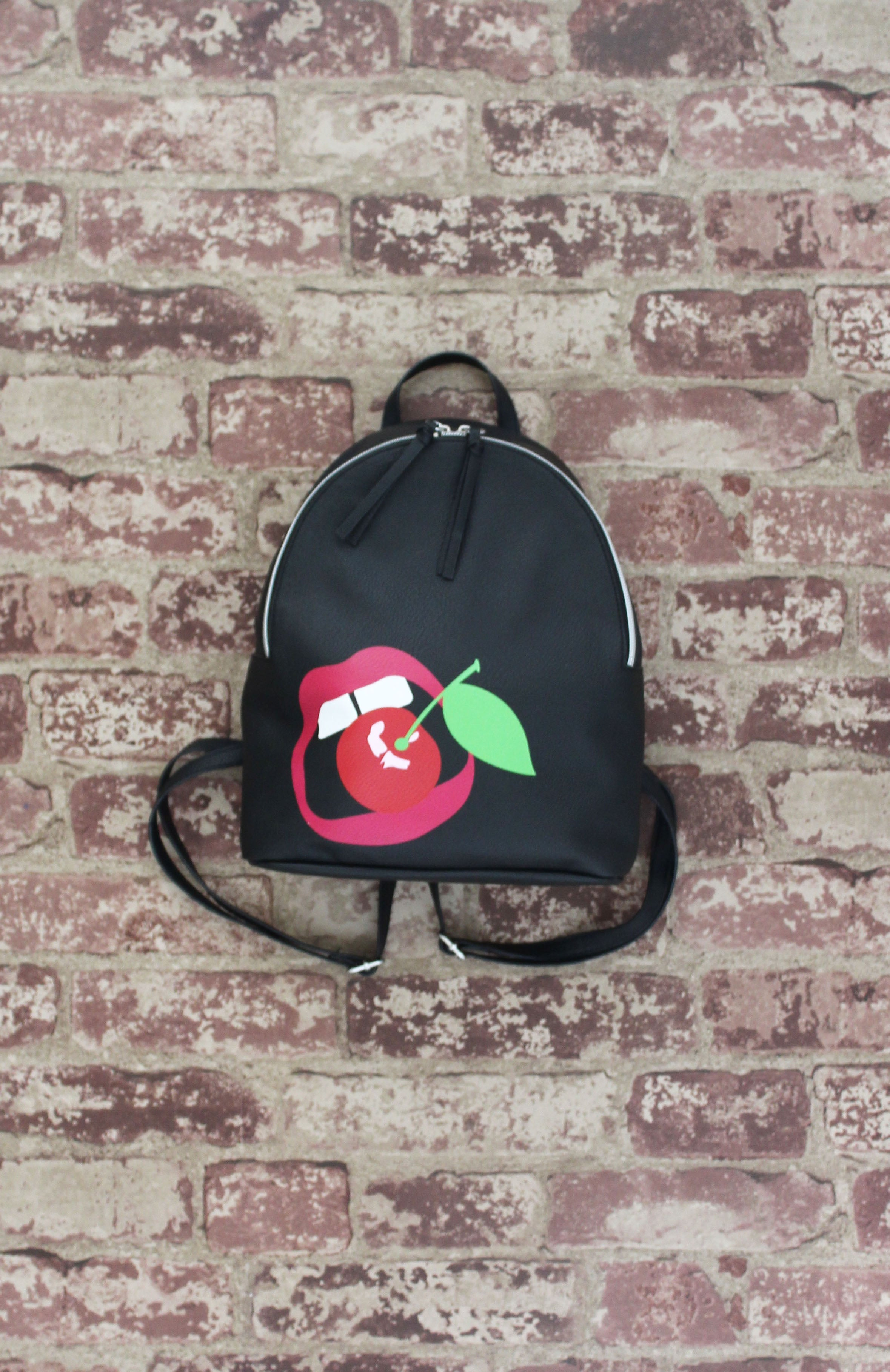 Jane Mini Dome Backpack in Cherry Bomb