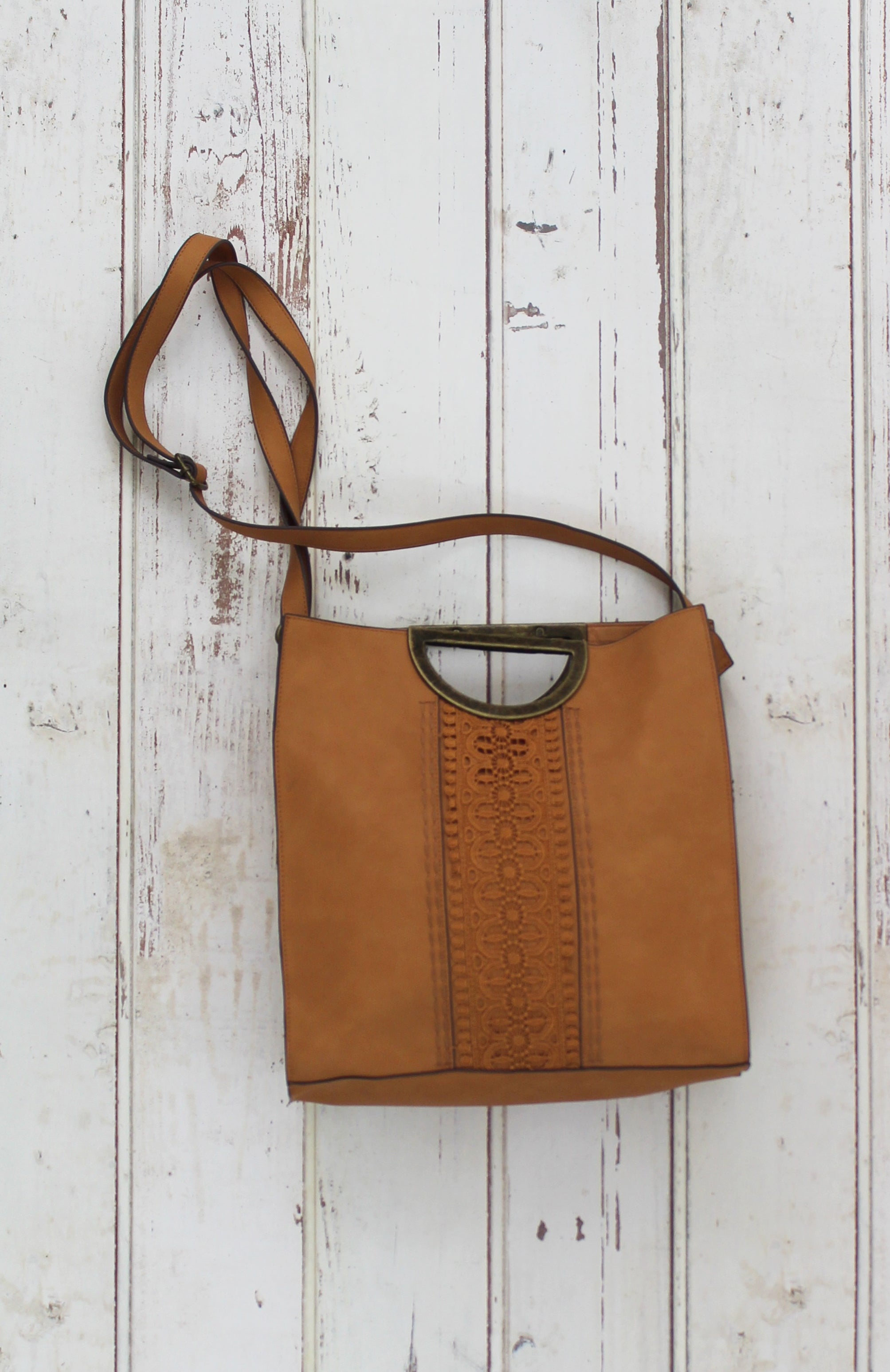 Cassidy Ring Tote in Crochet Khaki