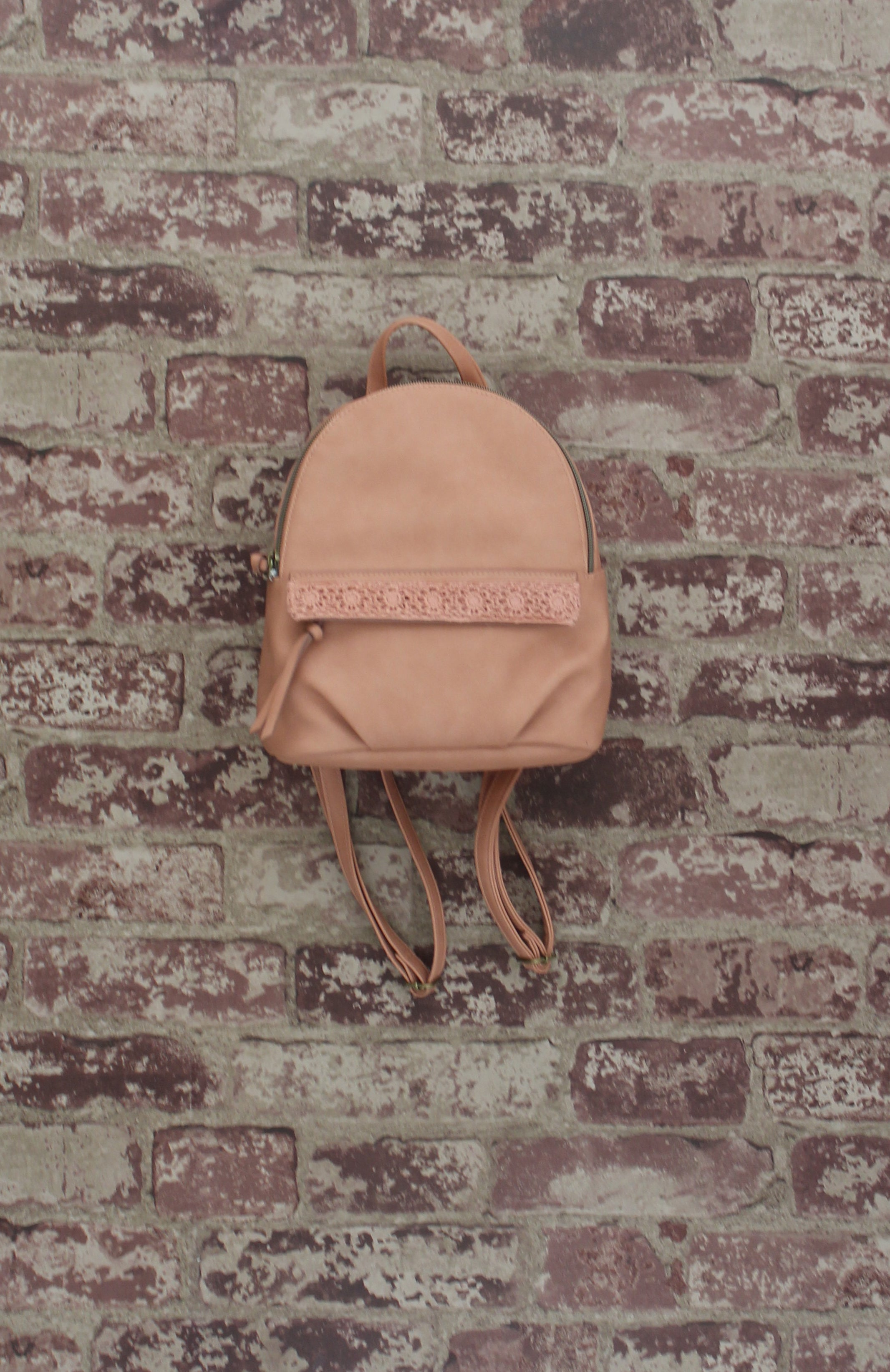 Maya Mini Backpack in Crochet Blush