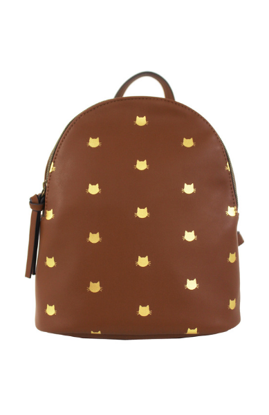 Harley Backpack in Cognac & Gold