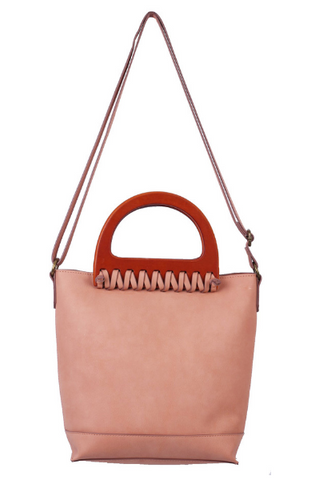 Cassidy Ring Tote in Crochet Blush