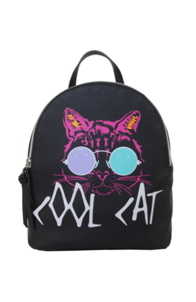 Cool Cat Backpack in Black