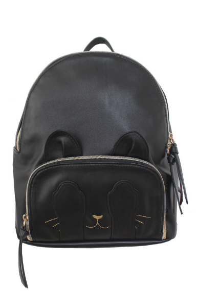 Marie Paws Dome Backpack in Black