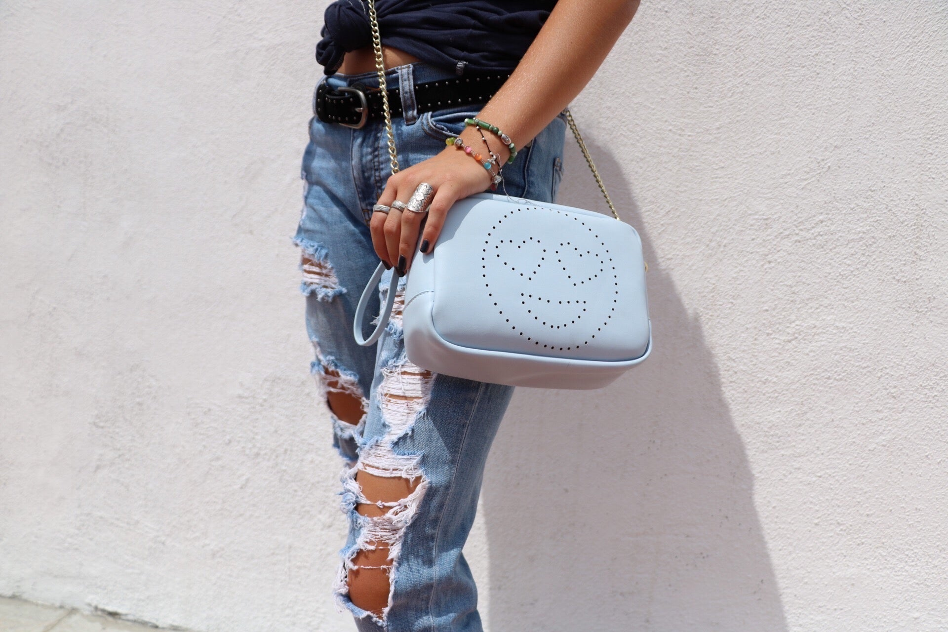 Heart Eyes Crossbody in Blue
